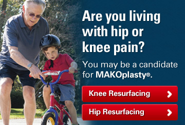 JOI Makoplasty knee hip for chronic knee hip pain