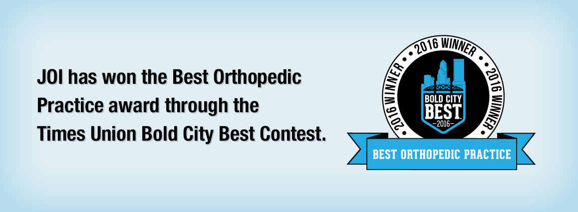 JOI has won the Best Orthopedic Practice award through the Times Union Bold City Best Contest