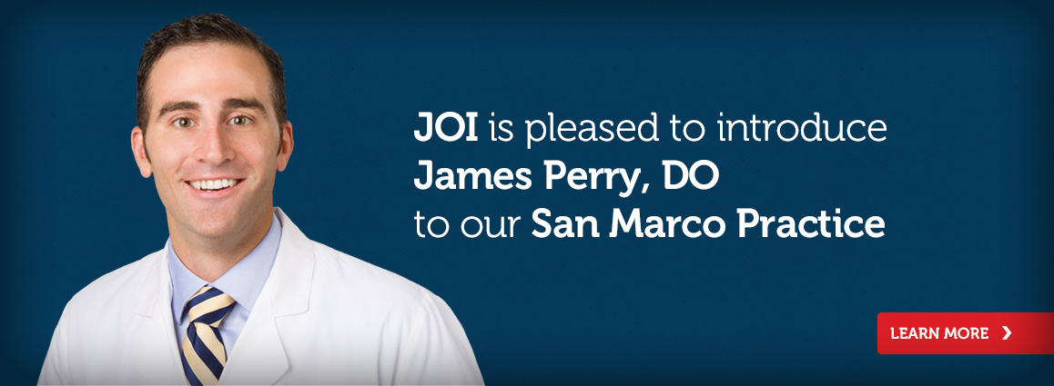 JOI is pleased to introduce James Perry, DO to our San Marco Practice