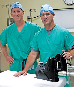 Jacksonville Orthopaedic Institute surgeons Dale Whitaker, MD (left), and John Von Thron, MD.