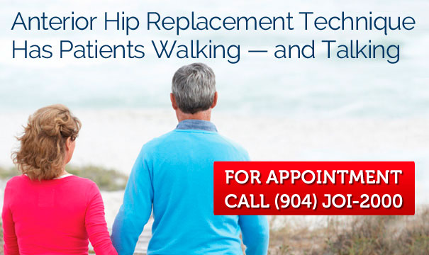 JOI Anterior Hip Replacement Technique Has Patients Walking — and Talking
