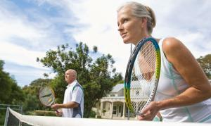 Tennis players are commonly affected by calf strains.