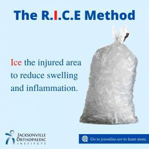Ice bag for the R.I.C.E Protocol for Injuries