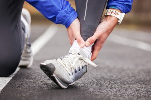 Ankle Sprains can occur when running.