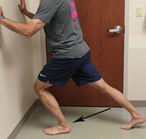 Wall Stretch for Heel Pain