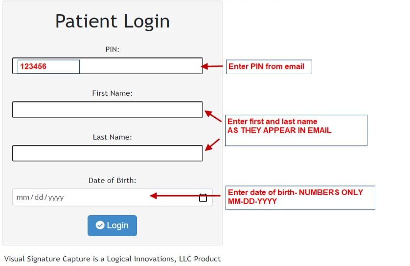 Electronic Paperwork Login Instructions
